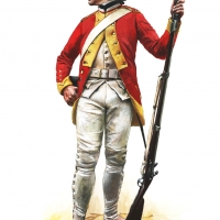 Fusilier of the French Dillon Regiment 1780