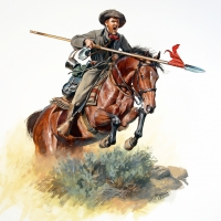 A Confederate lancer of the 5th Texas Mounted Rifles during Sibley's New Mexico Campaign of 1861-1862