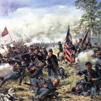 """""""Rock of Erin"""" , The 69th Pennsylvania Regiment at the Battle of Gettysburg, July 3, 1863"""