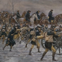 """""""Victory or Death"""" General Washington leads his army towards Trenton on the morning of Dec. 26, 1776"""