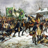The Battle of Trenton, Hessian Colonel Rall is mortally wounded, Dec. 26, 1776