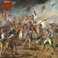 """""""The Redoubt"""" The British Marines storm into the Patriot held redoubt at the Battle of Bunker/Breeds Hill"""